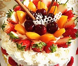 8寸水果生日蛋糕的做法