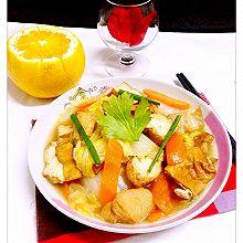 【五香干豆泡炒白菜】——家常小炒
