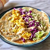 #植物蛋 美味尝鲜记#JUST蛋蔬菜沙拉手抓饼的做法图解7