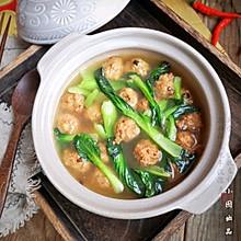 豆腐丸子青菜汤#钟于经典传统味#