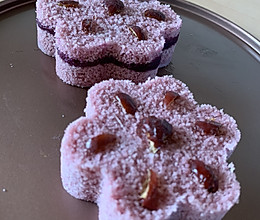 紫薯花松糕的做法