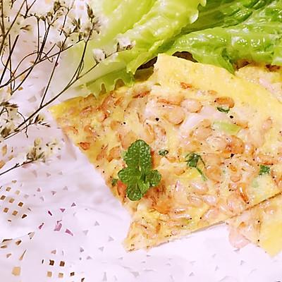 小虾鸡蛋饼
