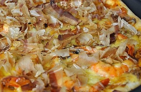 金枪鱼大虾比萨的做法
