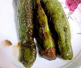 青椒灌肉生抽的做法