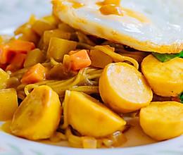 咖喱鱼丸面的做法