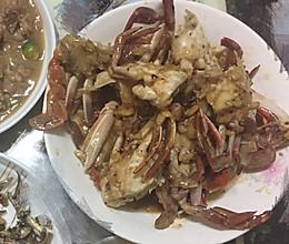 炒河蟹的做法