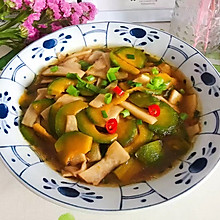 #一道菜表白豆果美食#蚝油南瓜杏鲍菇
