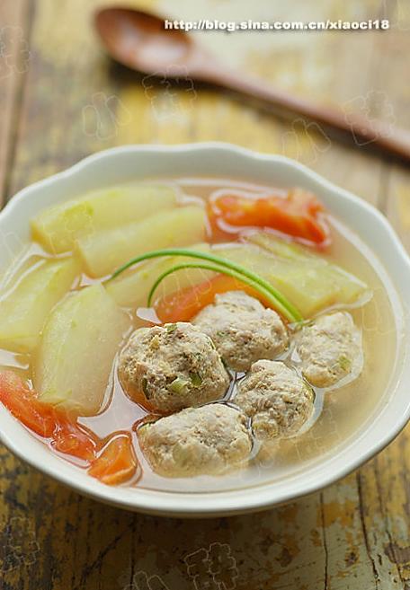 冬瓜番茄肉丸汤的做法