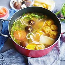 #冬天就要吃火锅#番茄浓汤素火锅
