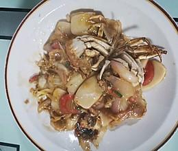 #下饭红烧菜#毛蟹炒年糕的做法