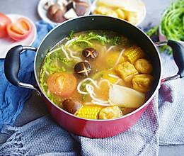 #冬天就要吃火锅#番茄浓汤素火锅的做法