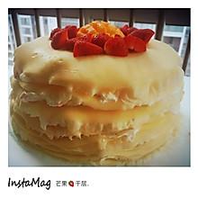 草莓芒果混合千层蛋糕