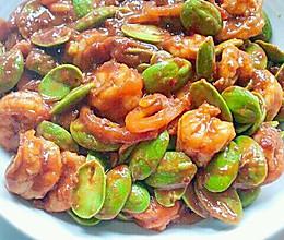 叁巴酸辣虾炒臭豆的做法