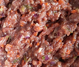 洋葱胡萝卜牛肉馅(可冷冻)的做法