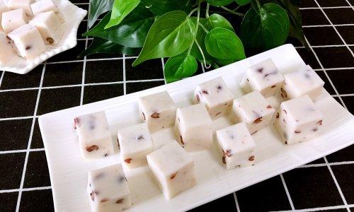 红豆椰浆糕~夏日快手甜品的做法