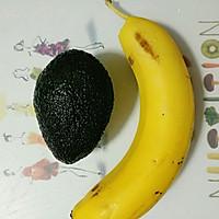 香蕉牛油果奶昔#花10分钟,做一道菜!#的做法图解1
