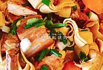 好吃不油腻的百叶结红烧肉的做法