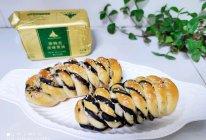 #奈特兰草饲营养美味#黑芝麻馅面包卷的做法