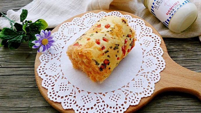 香葱肉松蛋糕卷#丘比轻食厨艺大赛#