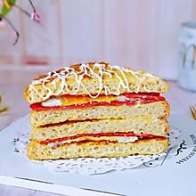沙拉培根三明治