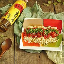 剁椒蒸金针菇#金龙鱼外婆乡小榨菜籽油 外婆的食光机#