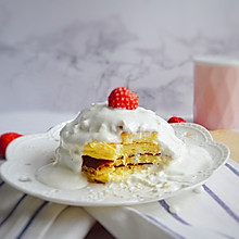 辅食·伪草莓奶油蛋糕