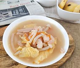 鲜到没朋友 虾仁火腿菌菇汤的做法