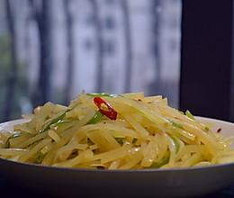 青椒土豆丝(你做到了炒制不粘锅,入口不软烂吗)的做法