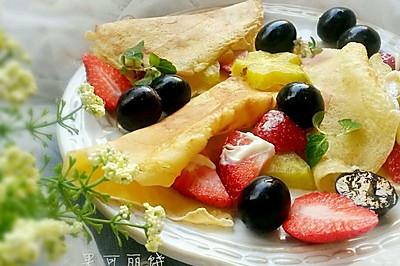 鲜果可丽饼#急速早餐#