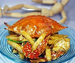 梭子蟹炒年糕  的做法