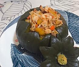 贝贝南瓜虾仁炒饭的做法