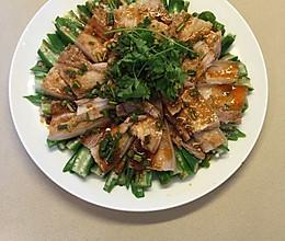 秋葵蒜泥白肉的做法