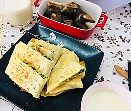 #换着花样吃早餐#虾米韭菜盒子的做法