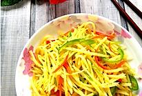 家常青椒炒土豆丝的做法