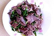 猪肺炒韭菜的做法