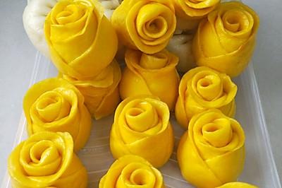 南瓜玫瑰花馍馍