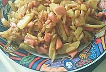 火腿炒土豆条的做法