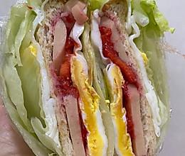关晓彤生菜三明治的做法