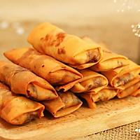 韭黄肉春卷-迷迭香的做法图解11