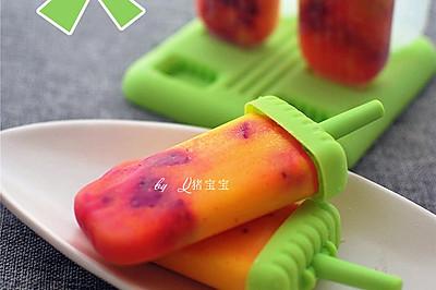 哈密瓜椰奶火龙果冰棒
