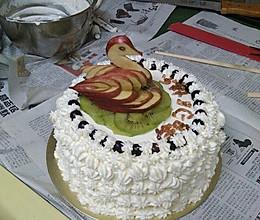 为儿子准备的六岁生日蛋糕的做法