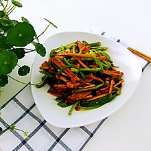 青椒豆干炒肉丝+#初夏搜食#