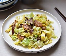 腊肉炒包菜#无腊味,不新年#的做法