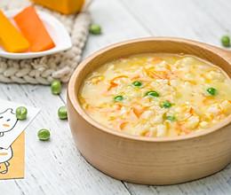 银鳕鱼南瓜时蔬疙瘩汤的做法