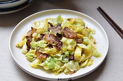 臘肉炒包菜#無臘味,不新年#