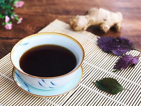 远离感冒 紫苏薄荷姜茶的做法