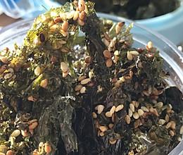 馋嘴小吃芝麻香炒紫菜的做法