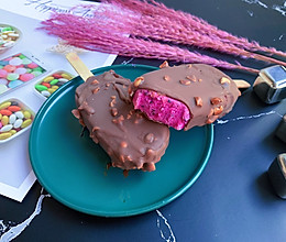 火龙果脆皮冰淇淋的做法