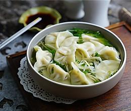 豆芽青菜汤饺的做法