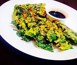 【香煎菠菜饼】一人饭菜的做法